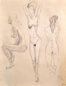 3 lady art